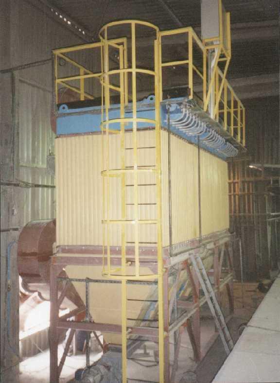 Cement load dedusting